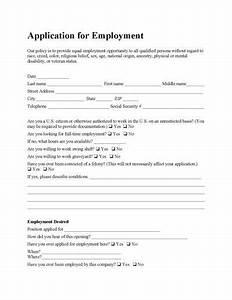 spanish job application template - free employee application form