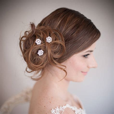 set  divinity wedding hair pins  chez bec