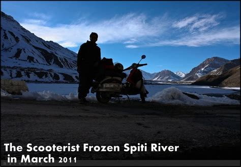 Water Scooter Ride Near Me by Solo Scooter Ride To Winter Spiti March 2011 By Narender