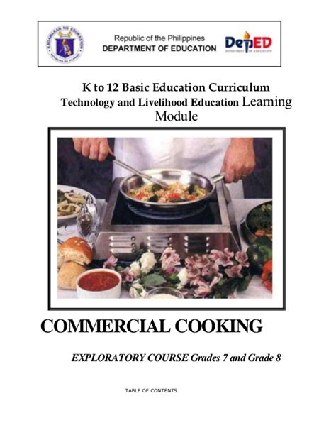 commercial cuisine commercial cooking learning module