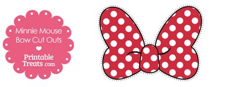 printable minnie mouse bow cut outs printable treatscom