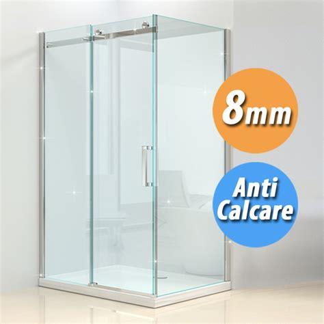 cabine doccia 70x100 box doccia dolomite cristallo trasparente anticalcare da 8mm