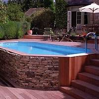 good looking pool patio design ideas Stone Veneer Pool - Aboveground Pools - 10 Reason to Reevaluate Your Opinion - Bob Vila