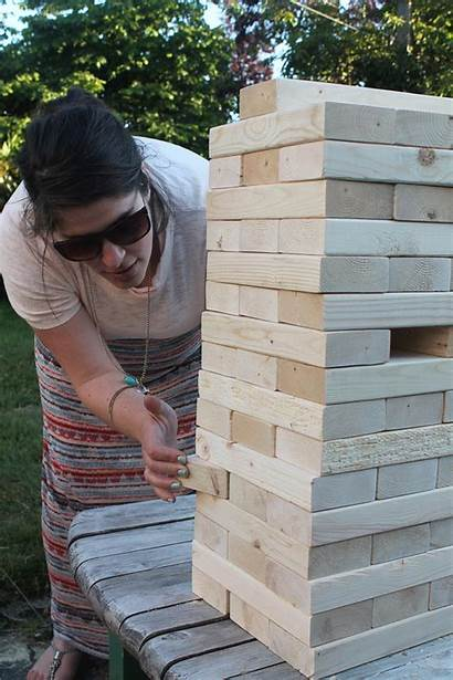 Jenga Giant Diy Yourself Homemade Projects Pull