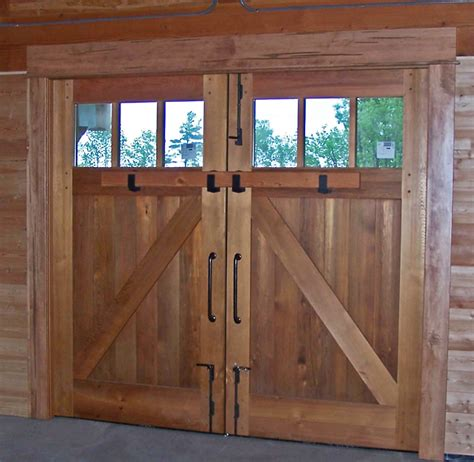 timber frame barn garage doors  energy works