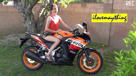 2013 Honda CBR 250R Moto GP Repsol Stock Exhaust Revving ...