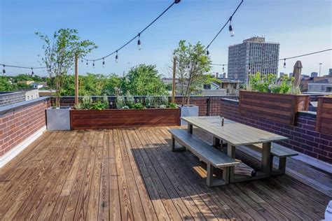 rooftop deck with bar chicago roof decks pergolas and outdoor living spaces