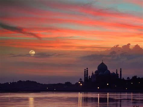 taj mahal sunset agra india wallpaper  downloads