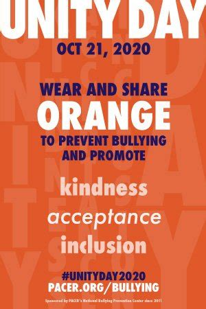 Order Unity Day Posters - National Bullying Prevention Center