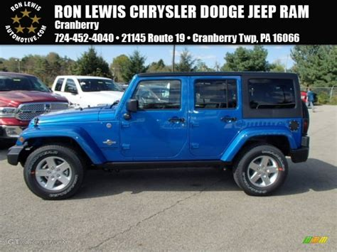 hydro blue jeep 2014 hydro blue pearl jeep wrangler unlimited sport 4x4