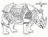 Coloring Rhino Rhinoceros Durer Albrecht Worksheets Cycle Cc Abstract Week Pages Sheet Frontiersman Duerer Arrow Theme 4th Grade Popular Coloringhome sketch template