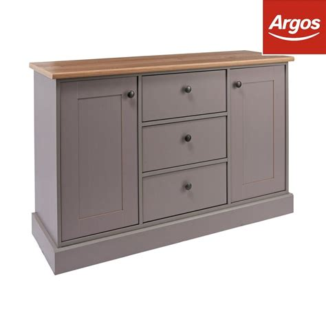 Winchester Sideboard by Argos Home Winchester 2 Door 3 Drawer Sideboard Grey Ebay