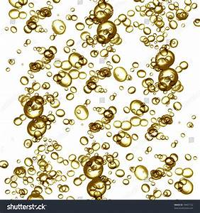 Golden Champagne Bubbles On White Background Stock ...