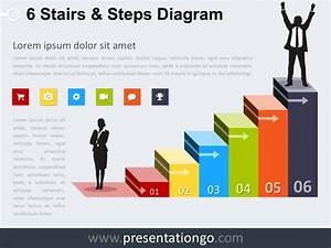 6 Stairs And Steps Powerpoint Diagram