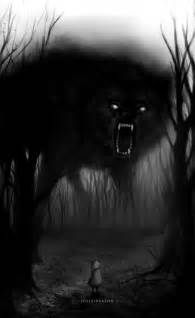 Shadow Wolf Demon Drawings