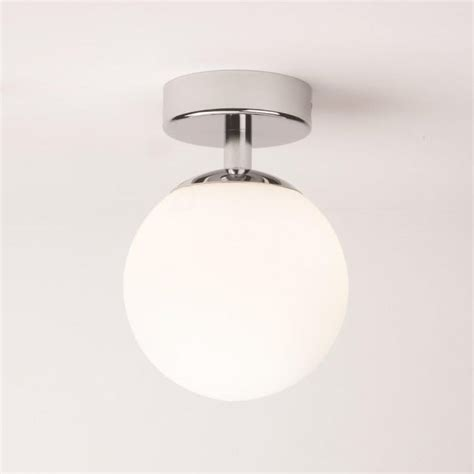 glass globe ip bathoom ceiling light fitting  zones