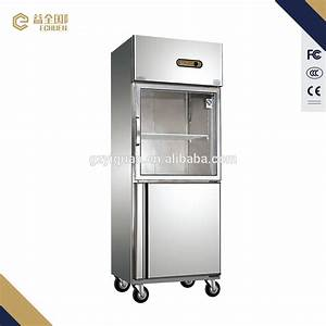 1000L Double Glass door commercial stainless steel ...
