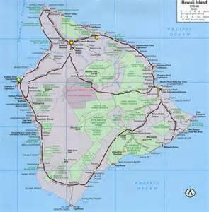 Big Island Hawaii Map Detailed