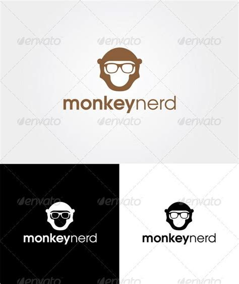 Templates Nerd by Monkey Nerd Logo Template Graphicriver Item For Sale