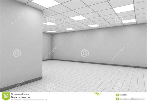 abstract empty office room interior  white wall