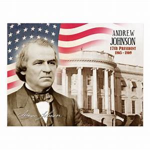 Andrew Johnson - 17th President of the U.S. Postcard | Zazzle