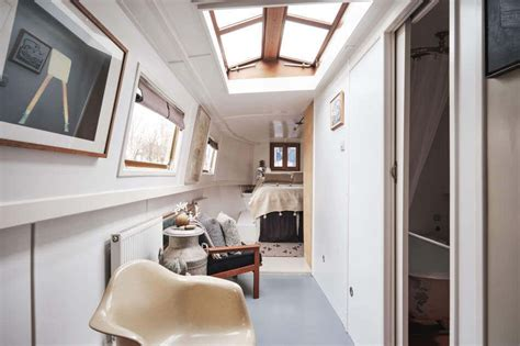 chasing dream canal boat london vintage apartment houseboat living house boat