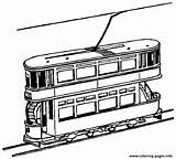 Train Tram Coloring Pages York Trains Clipart Printable Decker Double Drawings Outline 9d66 Colouring Cliparts Freight Toy Passanger Loader Town sketch template