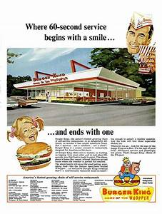 Burger King print ad (1966)