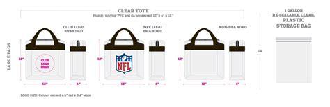 nfl bag policy details   stadium rules sbnationcom