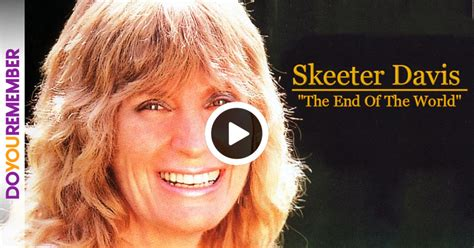"""They appeared on many local television shows, before moving to detroit, in 1952, to. A Broken Hearted Skeeter Davis Declares """"It's The End of ..."""