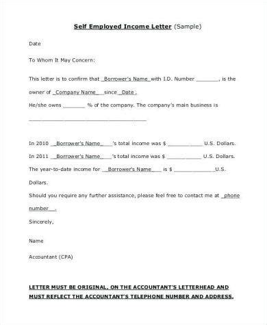 proof  income letter examples  examples