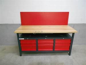 Etabli D Atelier : etabli d 39 atelier pro 1700mm 9 tiroirs ~ Edinachiropracticcenter.com Idées de Décoration