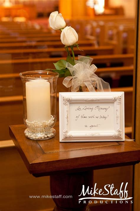 ideas  memory candle wedding  pinterest