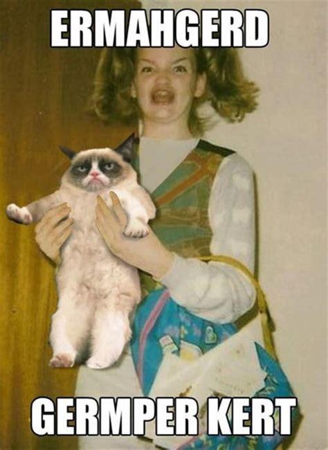 Ermahgerd Meme - germper kert grumpy cat ermahgerd know your meme