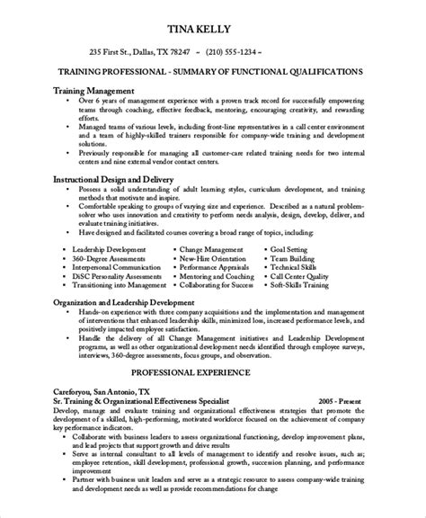 sample call center resume  examples  word