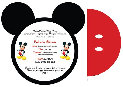 Mickey Mouse Invitations Template by Mickey Mouse Invitation Template Mickey Mouse