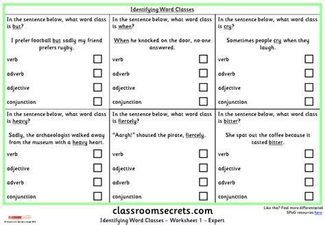 cosy identifying adjectives worksheet ks1 for identifying
