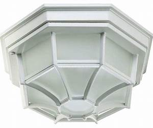 Quorum lighting  outdoor ceiling light white