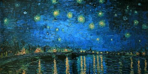 vincent van gogh starry night   rhone