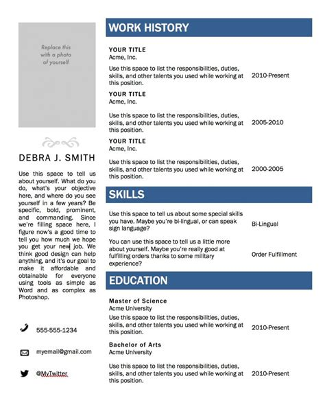 resume template sle wordpad free regarding word