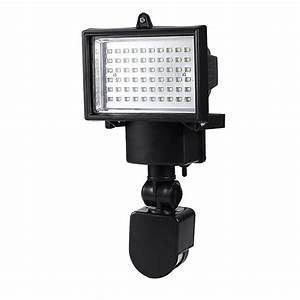 New led solar powered motion sensor security flood light