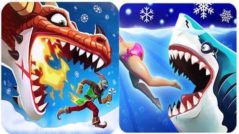 hungry shark world and hungry dragon