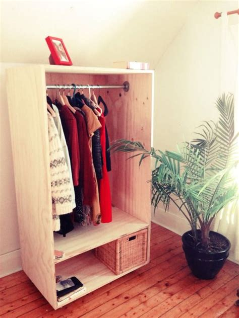Free Standing Coat Closet by Some Diy From The Weekend Freestanding Closet On Wheels