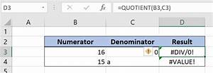 How To Use The Excel Quotient Function