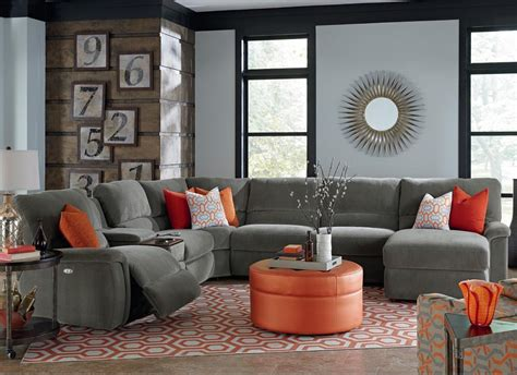 sectional sofa drink holder seven piece reclining sectional sofa with cupholders by la