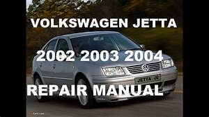 Volkswagen Jetta 2002 2003 2004 Repair Manual