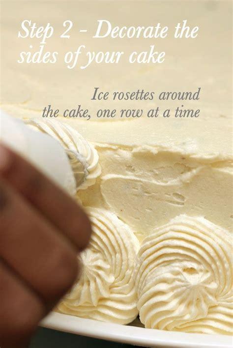 step 2 buttercream rosettes wedding cake diy tutorial from