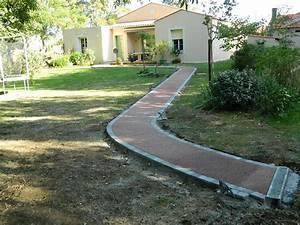 allee de jardin en beton drainant pose de sol exterieur With allee de jardin en beton