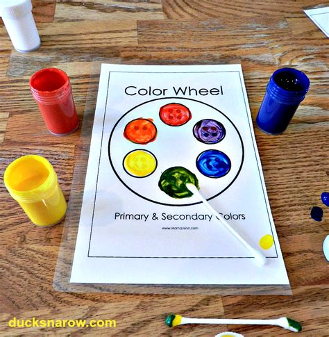 Color Wheel Craft Preschool