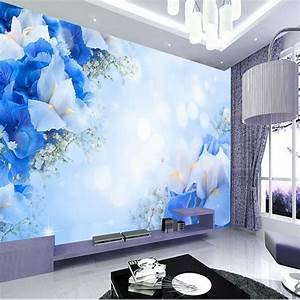 beibehang Customize size High Quickly mural 3d HD flowers ...